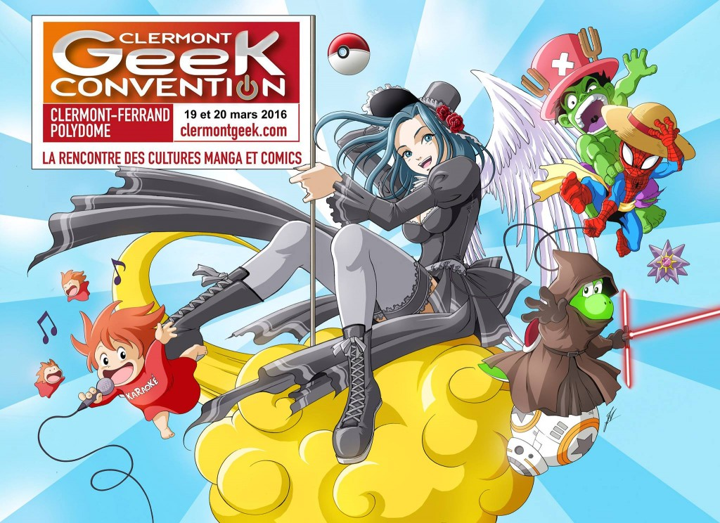 Affiche clermont geek convention 2016