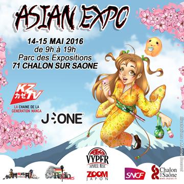 Flyer affiche asians expo japan tournus 2016
