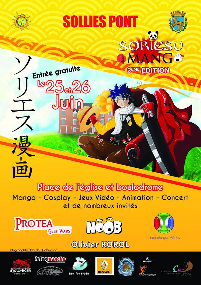 Flyer affiche convention manga japon soriesu manga