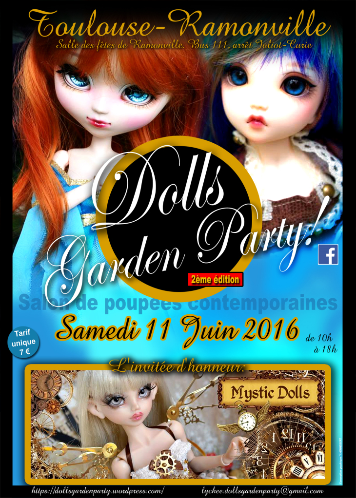 affiche flyer doll garden party 2016