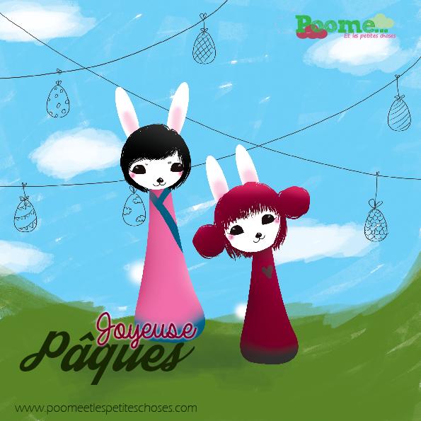 carte dessin illustration, lapin pâques